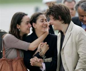 Ingrid Betancourt reunited with her children - AP Photo