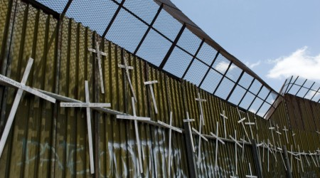 Immigration Wall with Crosses