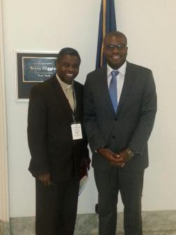Rev. Olufemi Fatunmbi meets with Chimso Okoji, staff for Rep. Brian Higgins (NY-26th)