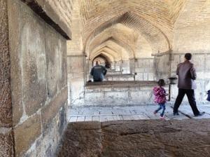 A view of the arches under Khaju Bridge, Isfahan, Iran. (MCC Photo/Cheryl Zehr Walker)