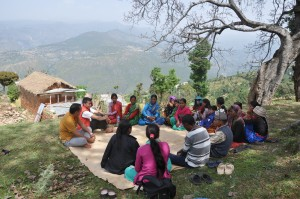 AA self-help group for people with HIV/AIDS meets in the village of Payal in Achham district in the far west of Nepal. Through awareness-raising and self-advocacy, this group has helped to eliminate the stigma of HIV/AIDS in their community working with our partner Sanjal.