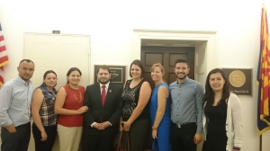 A delegation from Justapaz met with Rep. Gallego in July 2015