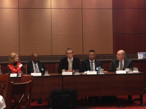 Jason Gerlach (center), associate pastor at Community Mennonite Church in Harrisonburg, Va., speaks at a congressional briefing in November about the need for reforms to the criminal justice system.