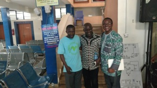 Left to right: Dr. Christian Isichie, coordinator/founder of Faith Alive Foundation; Mugu Bako, MCC Nigeria; Charles Kwuelum, MCC Washington Office