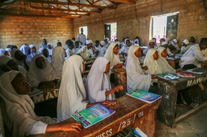 Peace Club members at Muhammadu Abdullahi Wase Islamic Secondary School in Wase Plateau State, Nigeria