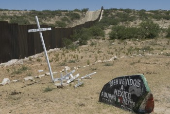 Crossing into Sesabe, Mexico and having a prayer service at a church there.